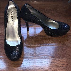 Guess black heels/ shoes